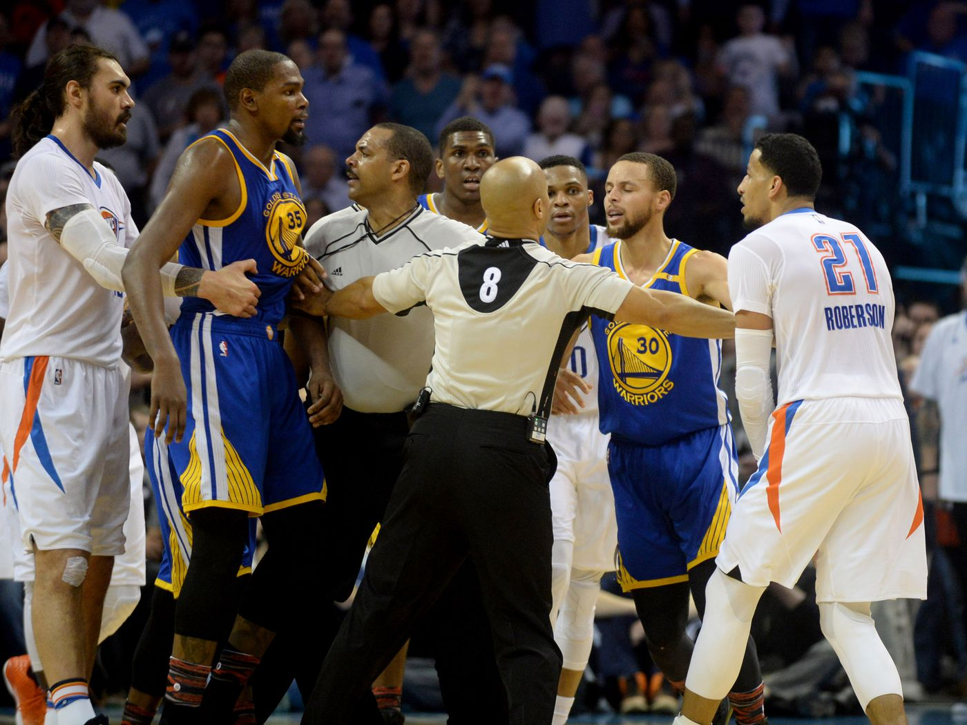 Nba Scores 2017 Kevin Durant And Russell Westbrook Clash In Return