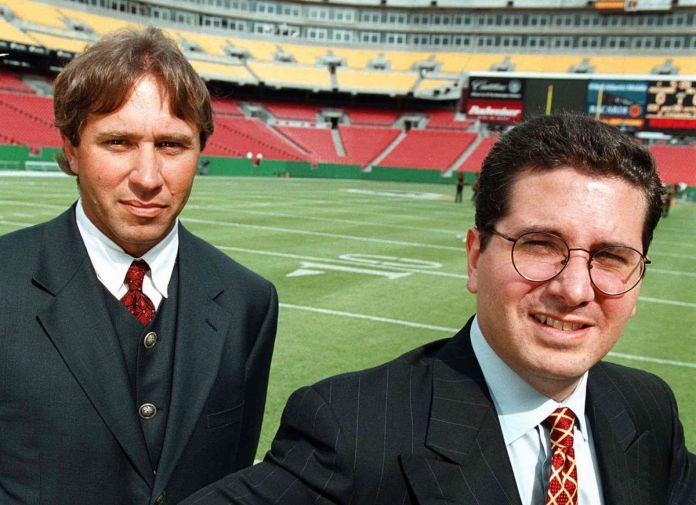 1999 - SLUG: SP/SNYDER - CAPTION: New Redskins owner Dan Snyder