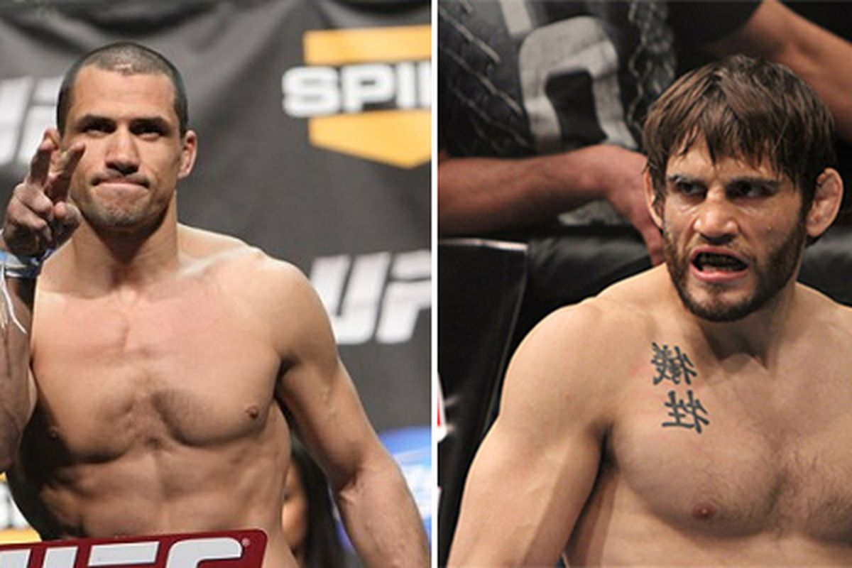 hight resolution of aaron simpson vs jon fitch booked for ufc on fuel tv 4 on july 11 in san jose
