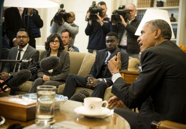 President Obama meets with young immigrants, known as DREAMers.