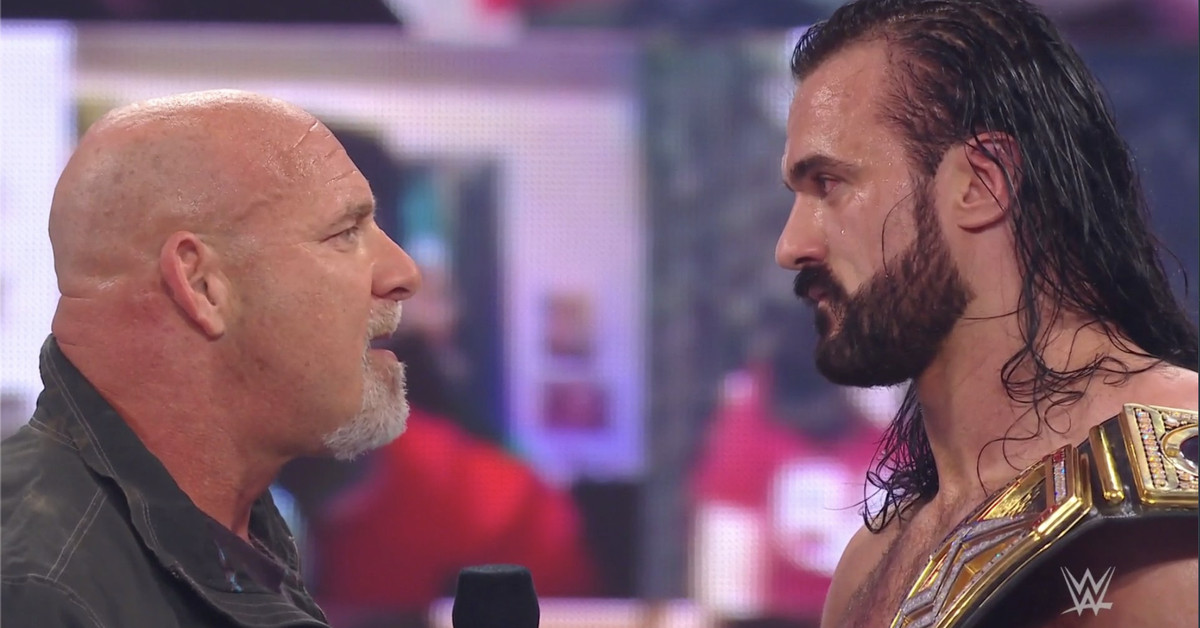 Goldberg returns to challenge Drew McIntyre for the WWE championship