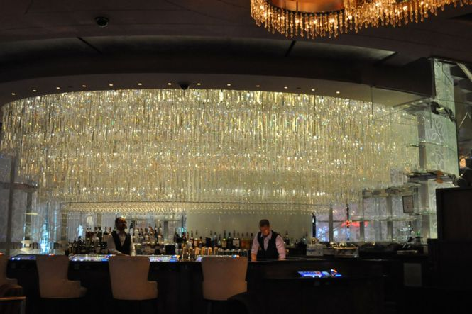The Lower Level Of Chandelier Bar At Cosmopolitan Las Vegas Re Opened Over Weekend After A Two Week Makeover And As Eater Warned