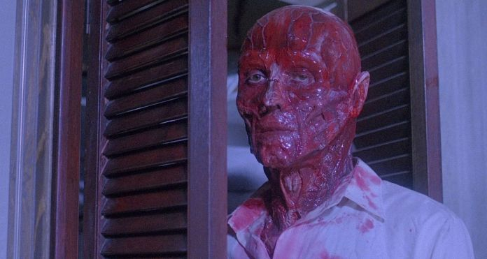 a bloody face man from hellraiser