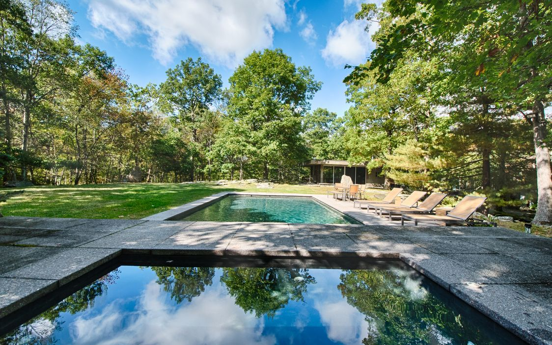Glass-and-stone midcentury on 5 acres asks $2.3M in Pound Ridge. NY - Curbed