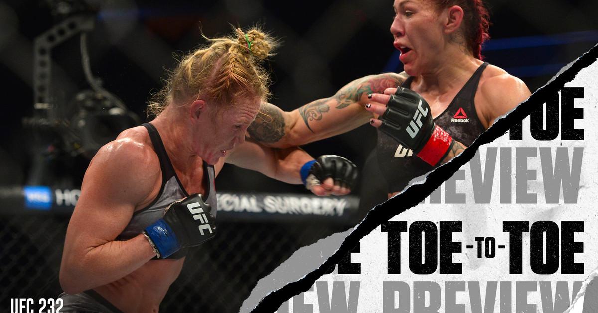UFC 232: Jones vs. Gustafsson 2 - Cris Cyborg vs. Amanda Nunes Toe-to-Toe Preview - Bloody Elbow