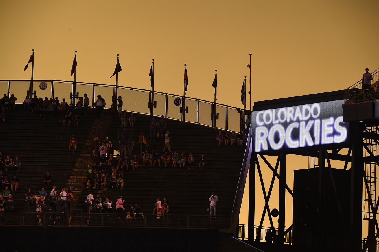 The Colorado Rockies take on the Tampa Bay Rays at Coors Field in Denver, Colorado