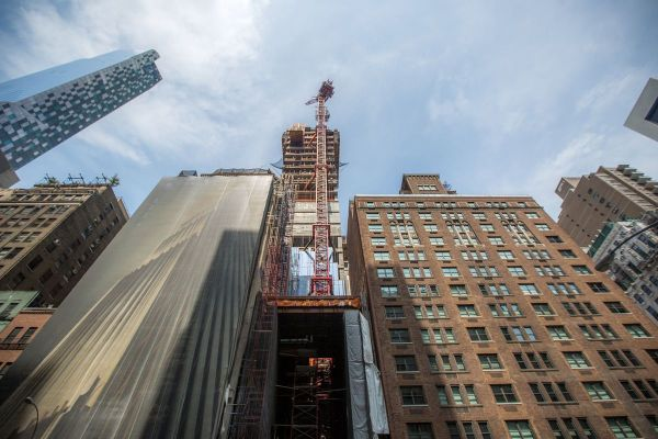 Midtown Supertall 111 West 57th Street Starts Terracotta Facade - Curbed Ny