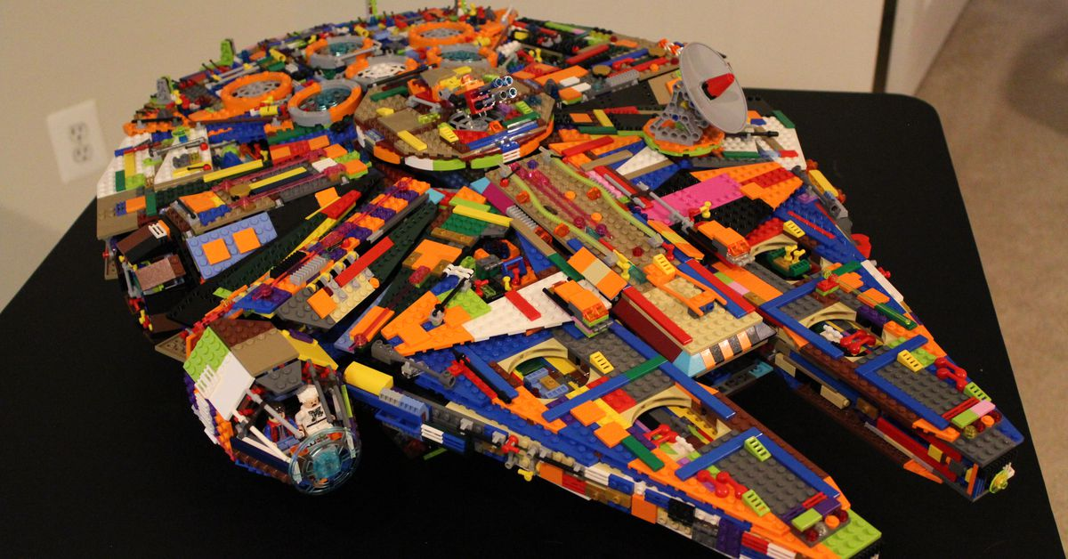 Save Some Cash And Make Your Own Colorful Lego Millennium Falcon Polygon