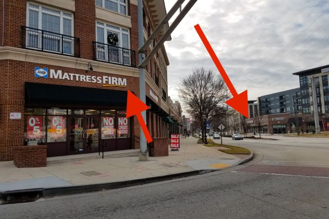 These Two Mattress Firm Locations All But Face Each Other What S The Meaning Of This Curbed Atlanta
