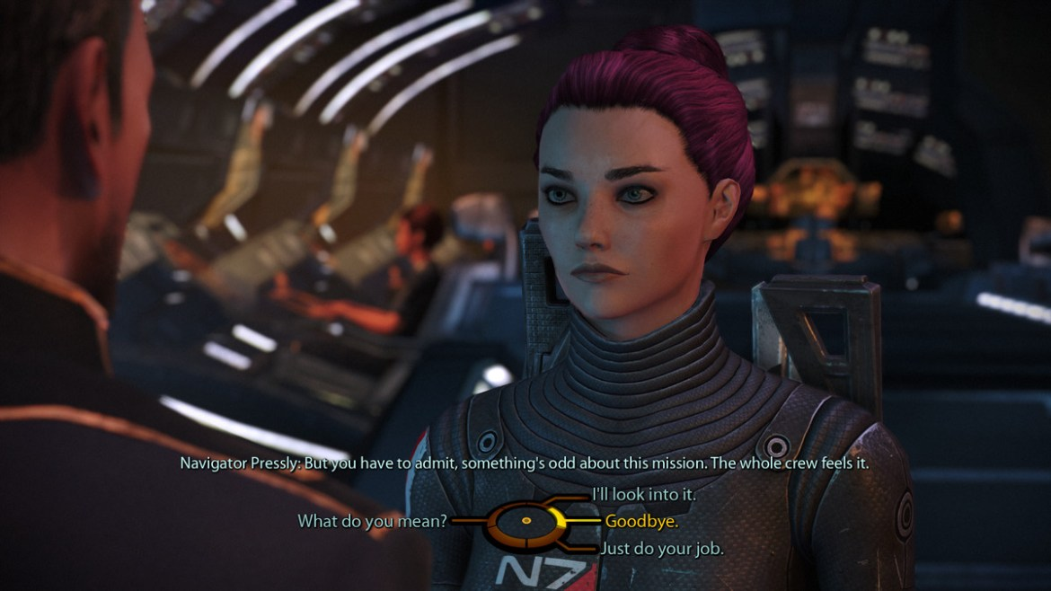 A dialogue tree in Mass Effect
