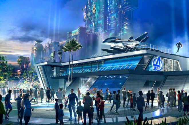 disney_avengers.0 Avengers Campus is finally opening at Disneyland on June 4th, complete with aerial Spider-Man robot | The Verge