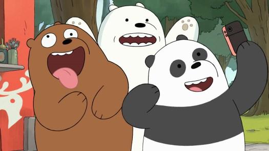 three bears take a selfie