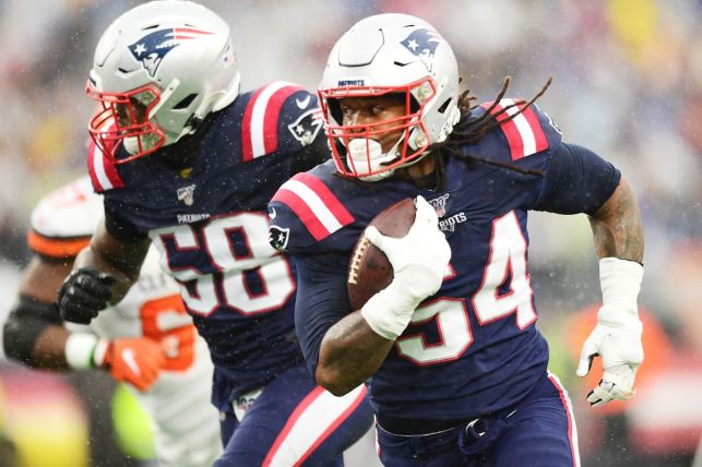 Dont'a  Hightower scored the Patriots defense's fourth touchdown of the season.