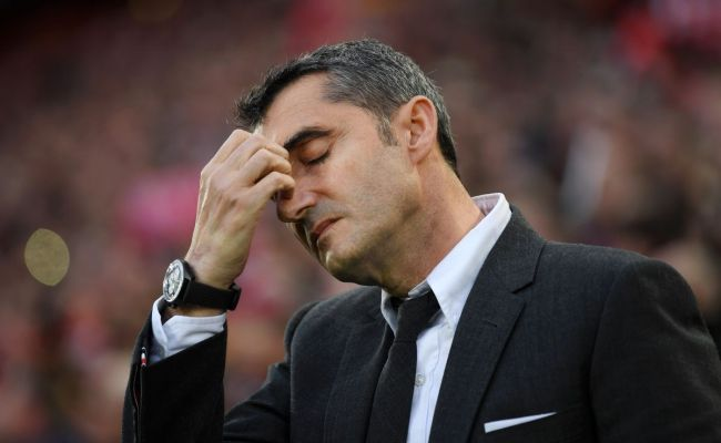 Is It Time For Ernesto Valverde To Be Fired Barca