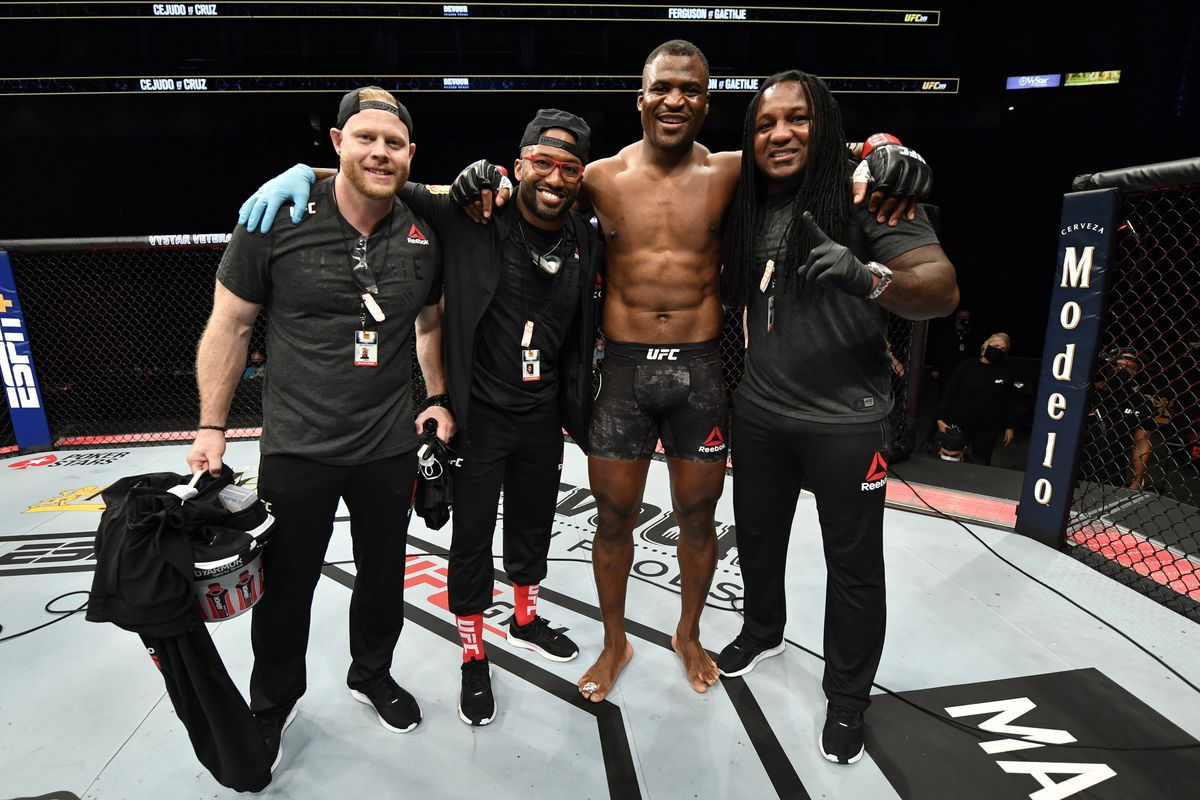 Francis Ngannou's head coach reacts to 'shock' of interim title fight