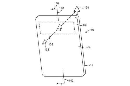 small resolution of apple s rumored bezel less iphone could be made possible with an oled screen full of holes according to a patent granted today