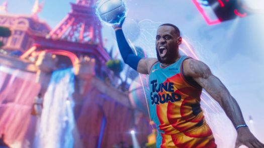 Lebron James moments from dunking a basketball in Space Jam: A New Legacy