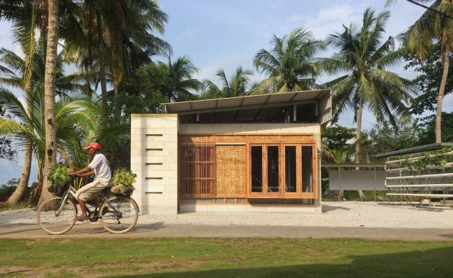 Concrete Home Designed As Expandable Low Cost Housing