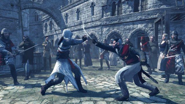 Assassin's Creed - Altaïr Ibn-La'Ahad battles a knight