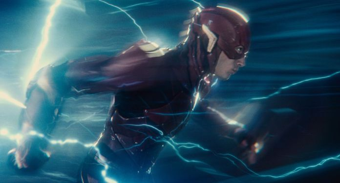 Ezra Miller as the Flash/Barry Allen in Justice League