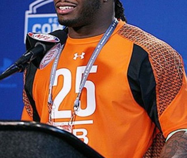 Feb 24 2012 Indianapolis In Usa Alabama Crimson Tide Running Back Trent Richardson Speaks At A Press Conference During The Nfl Combine At Lucas Oil