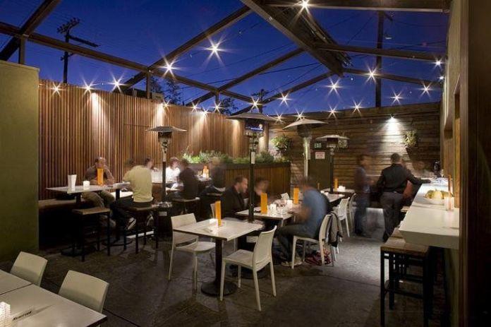 Rooftop patio at Starlite bar