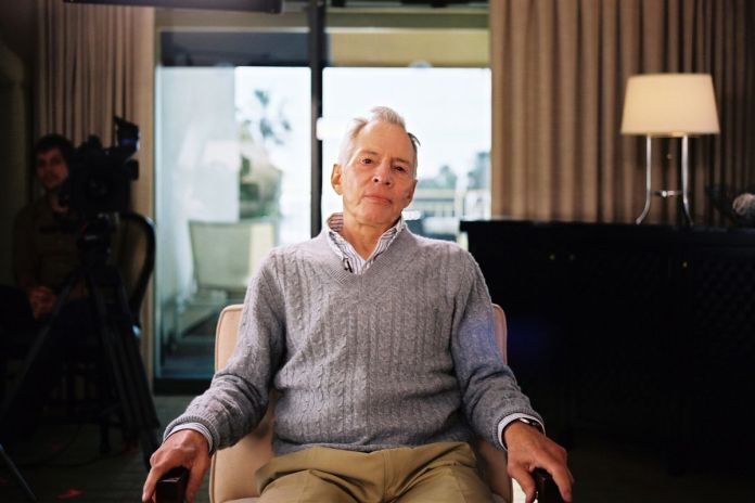 Robert Durst looks into camera in a screenshot from The Jinx