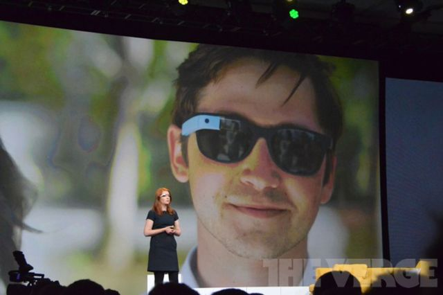Liveblog images of Project Glass at Google I/O 2012