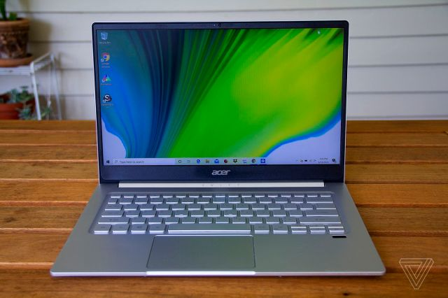 The Acer Swift 3 from the front.