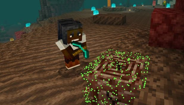 Minecraft: a player mine in a new abyssal biome