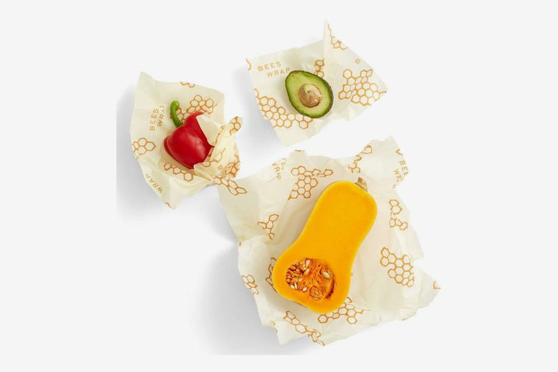 A pack of three assorted reusable food wraps