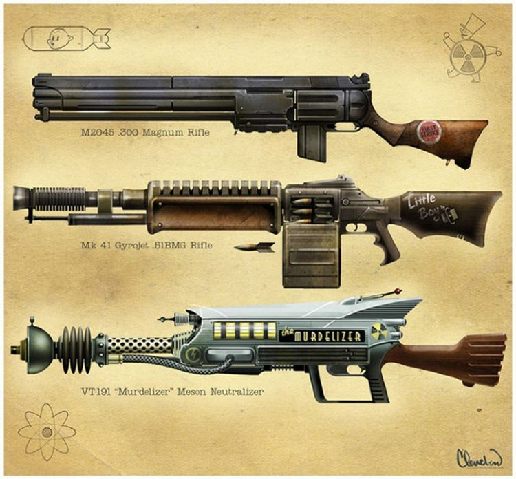 Early Project V13 rifle concept art