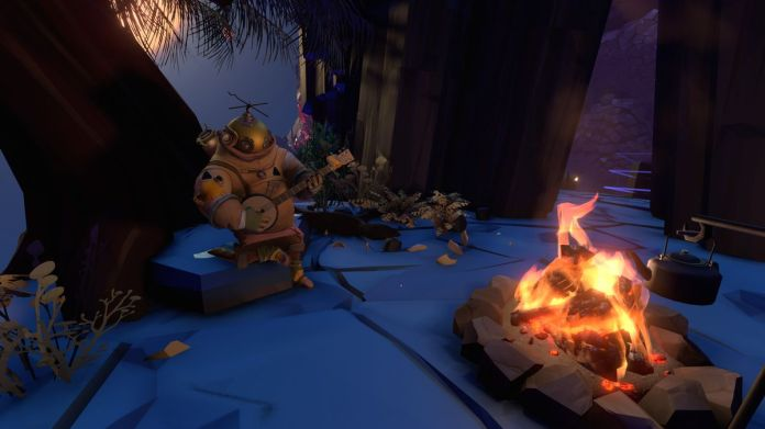 A space at a camp site in Outer Wilds