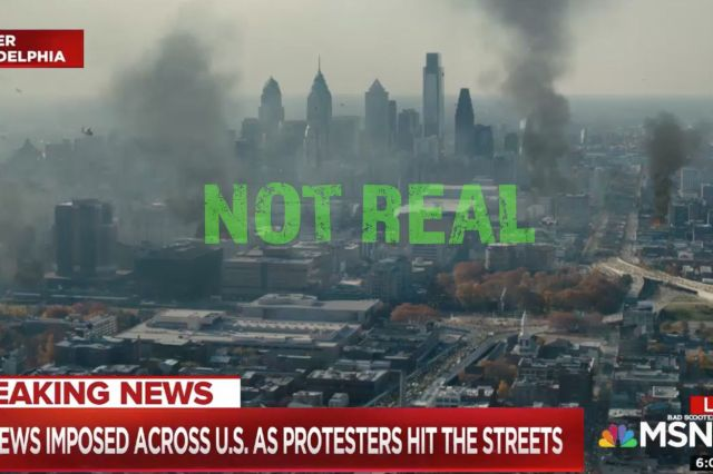 Faked World War Z / MSNBC Image
