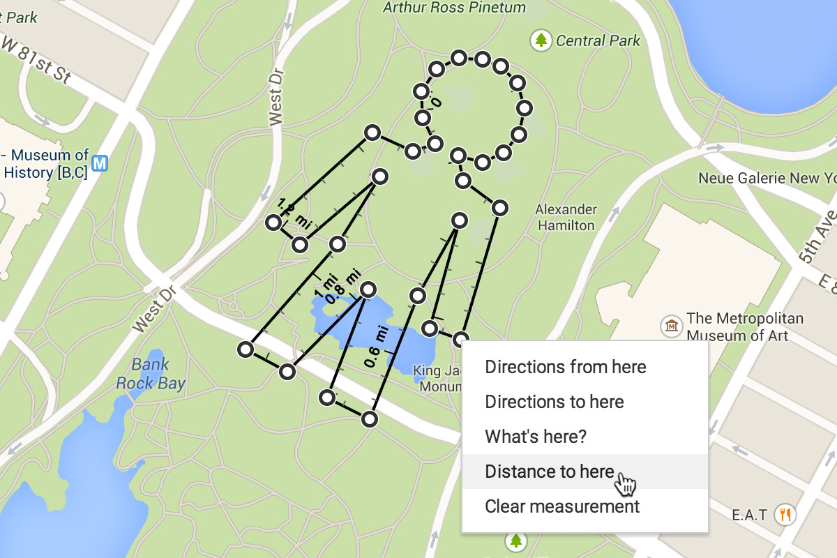 Maps Can Now Tell You The Exact Distance Between