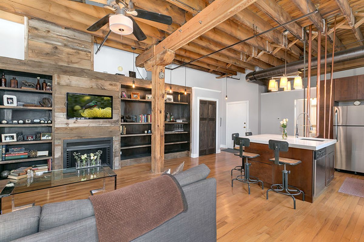 Own this rustic onebedroom timber loft in River West for 242K  Curbed Chicago