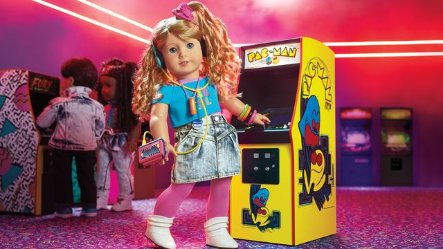Courtney___PAC_MAN_DS_HR_highres.0 The newest American Girl doll is a Pac-Man champion and video game developer   Polygon