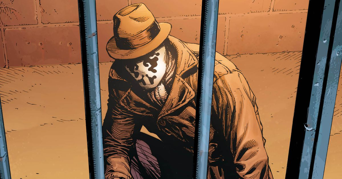Rorschachs First DC Universe Encounter Is The Only DC Character As Grim As He Is Polygon