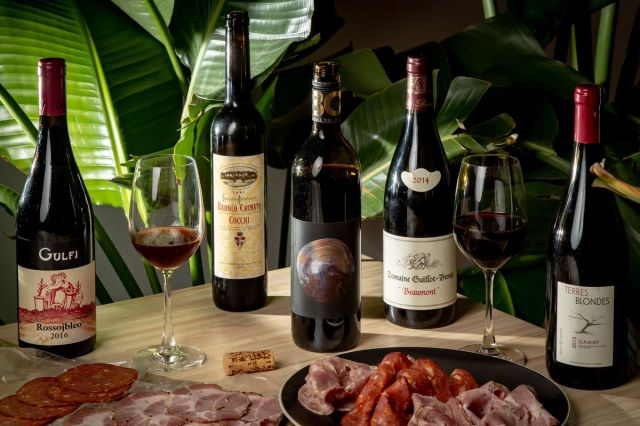Charcuterie from the Meat Hook and wine