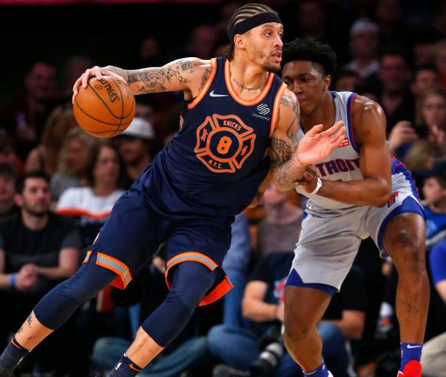 Farewell To Michael Beasley Who Gave The Knicks The Best Moment Of The   Season Posting And Toasting