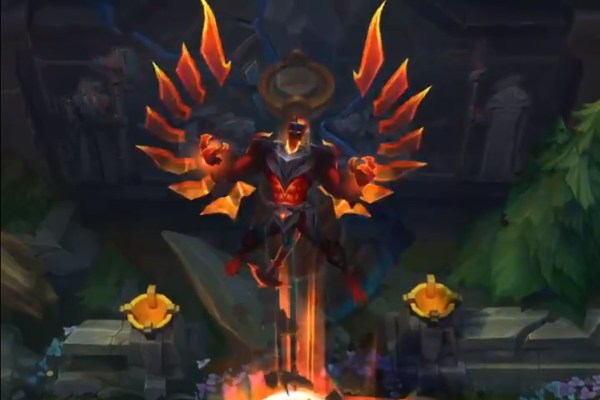 Infernal Galio Shen And Varus Skins Fire