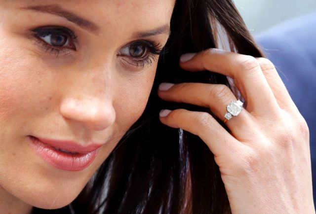 The center stone in Meghan Markle's engagement ring is from Botswana. The smaller two are from Princess Diana's jewelry collection.