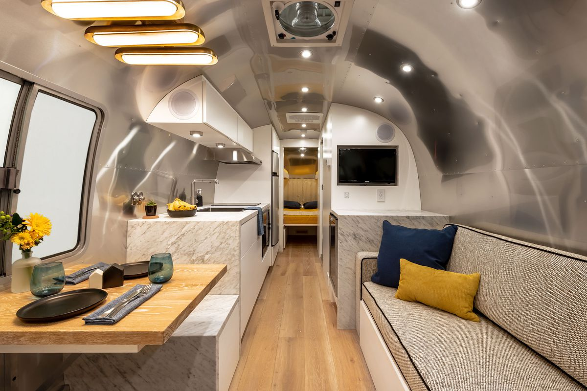 Renovated Airstream Is Like A Chic Apartment On Wheels Curbed