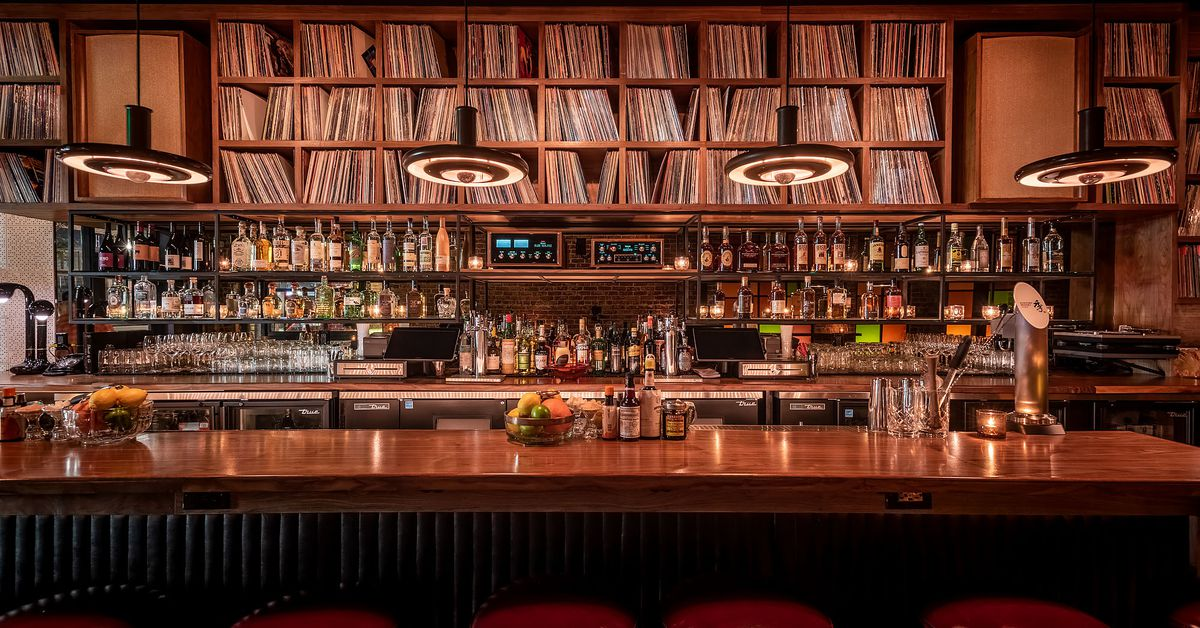 Highland Parks New Gold Line Bar Is a Moody Music Lovers Paradise  Eater LA