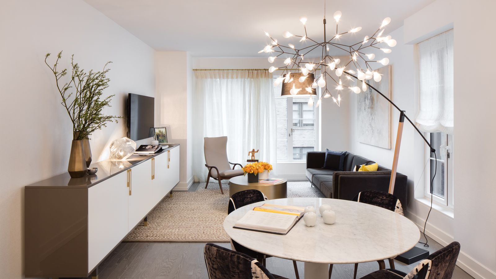 Extells cushy Hudson Square condo shows off its model