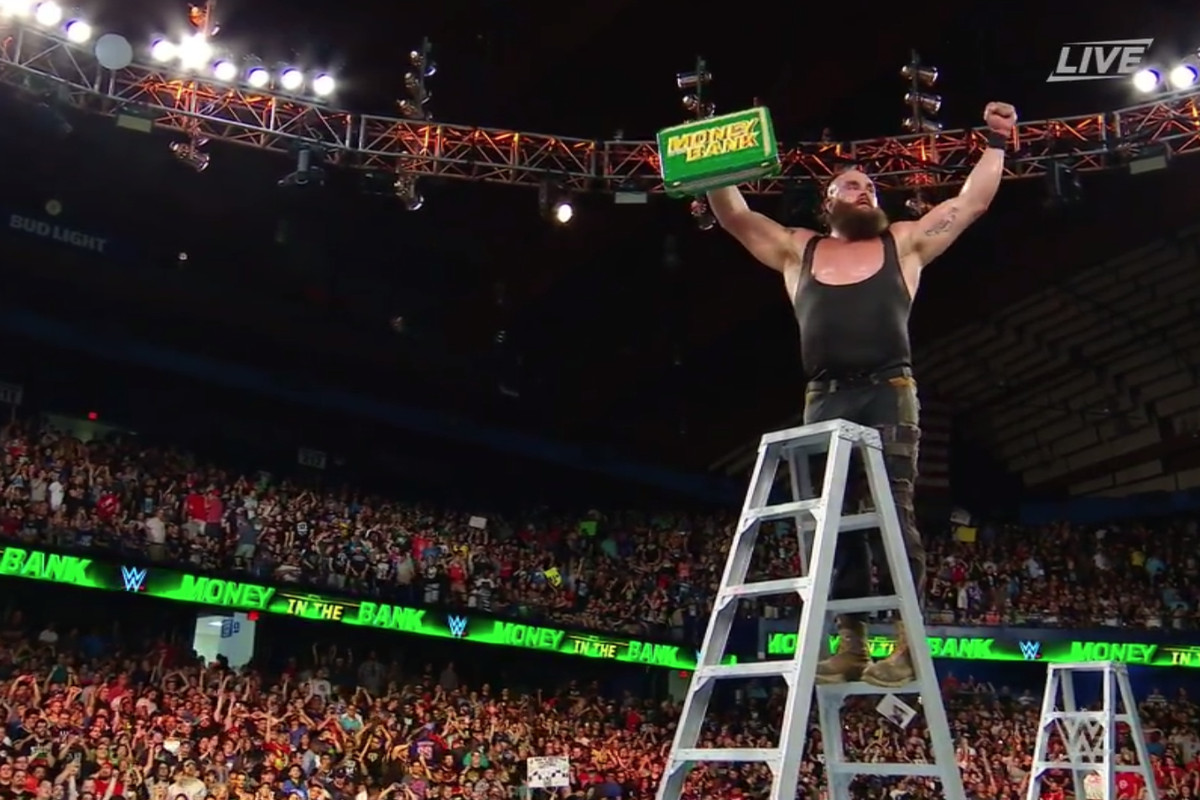 what are wwe chairs made of cheap patio lounge money in the bank 2018 results winners and highlights from sunday night