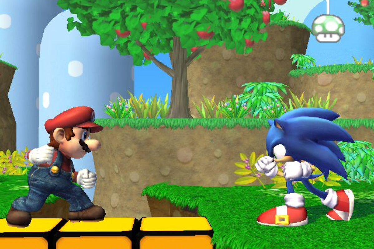 Vs Sonic Characters Mario