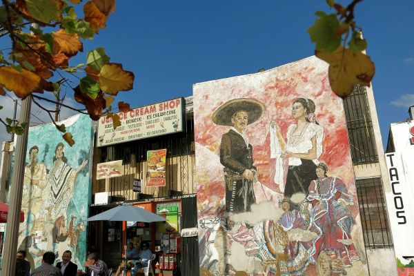 Three Mariachi Plaza Storefronts In Boyle Heights
