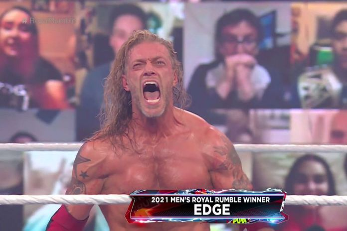 Image result for edge royal rumble win 2021