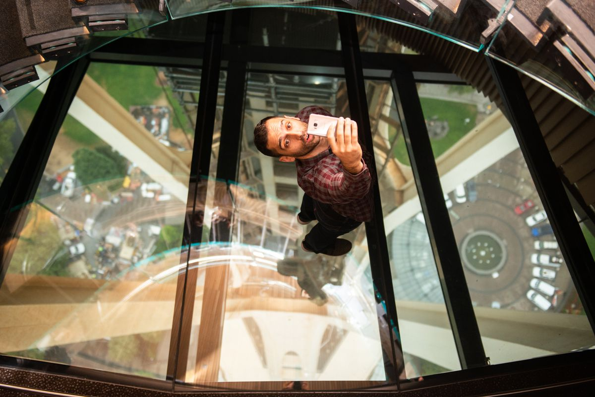 The Space Needle debuts a rotating glass floor  Curbed Seattle